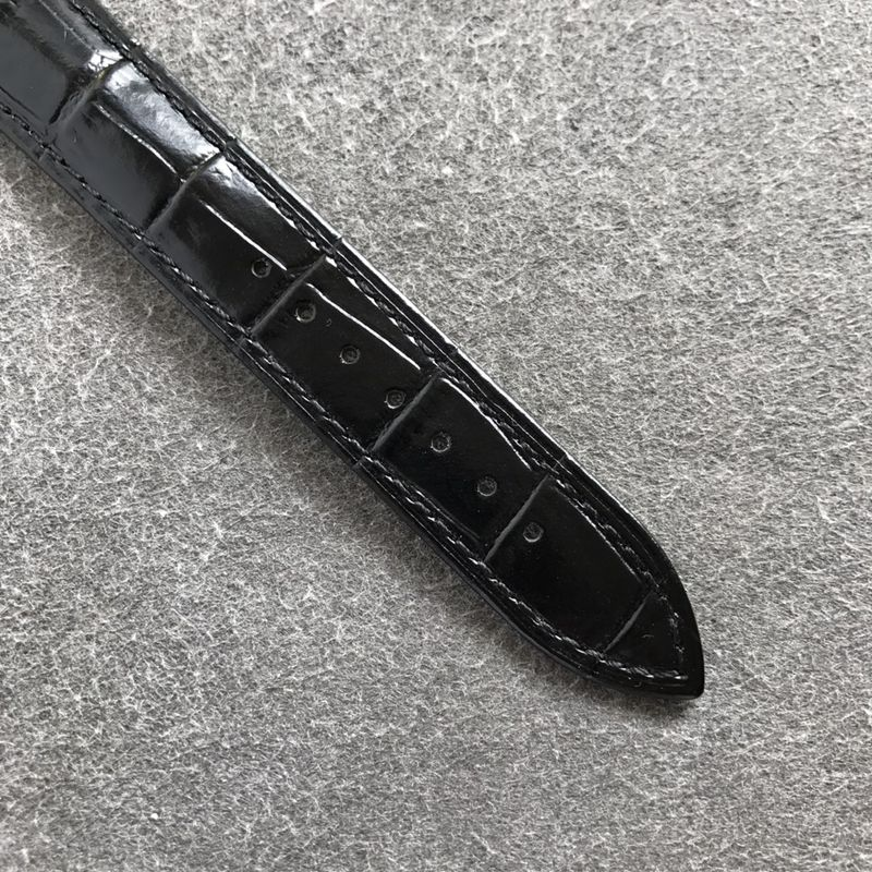 欧米茄顶级复刻手表碟飞系列男士皮带黑盘腕表