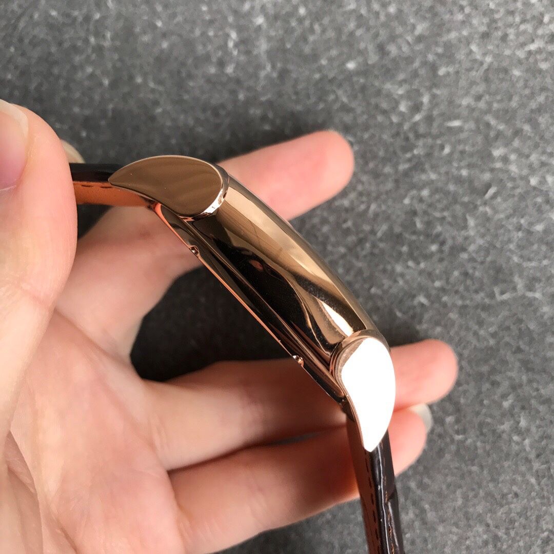 帕玛强尼复刻手表顶级陀飞轮机芯男士方形手表玫瑰金