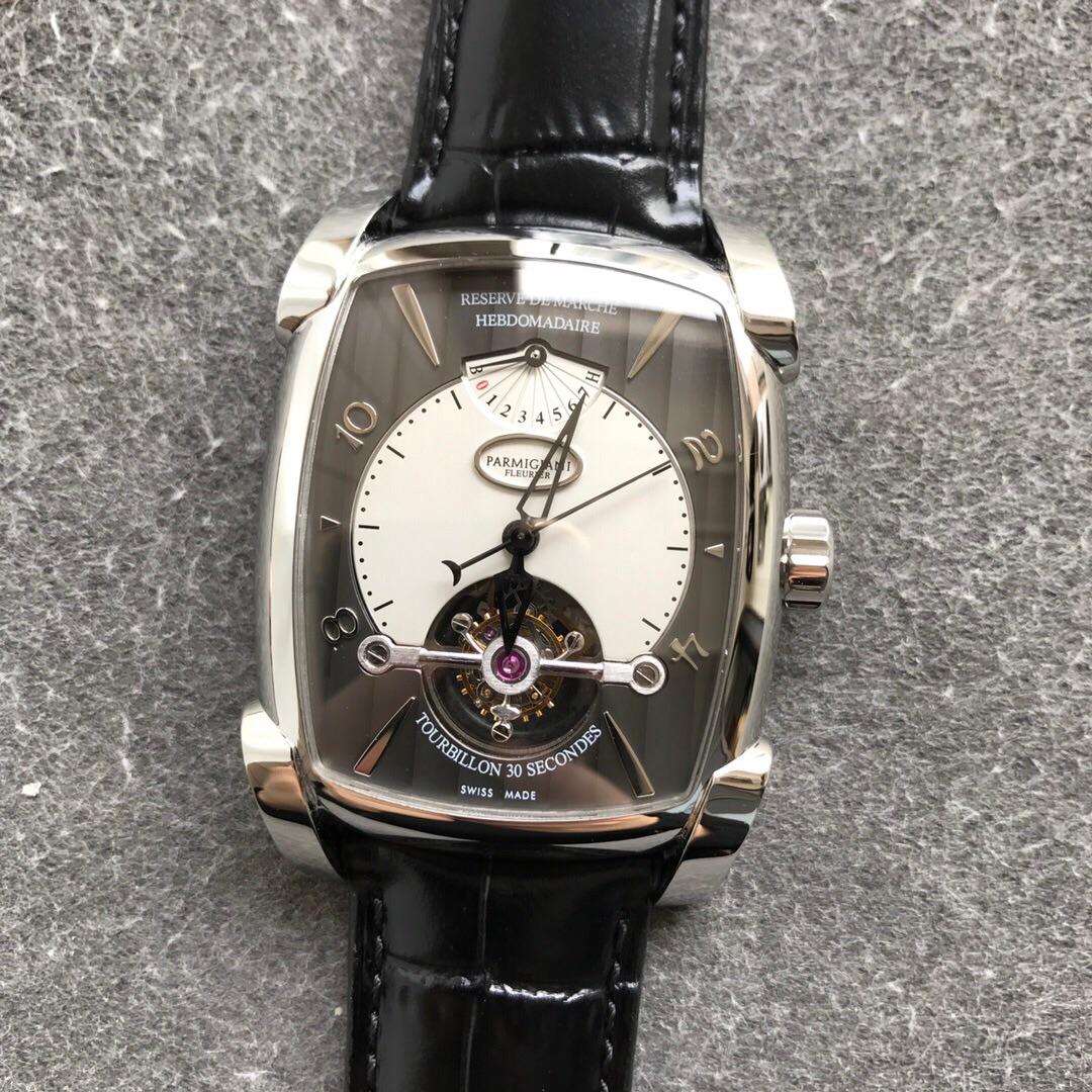 帕玛强尼顶级复刻手表 陀飞轮 男士方形手表