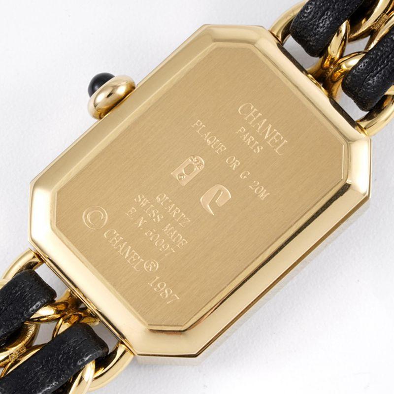香奈儿女表顶级高仿Premiere系列石英手表黄金色黑盘