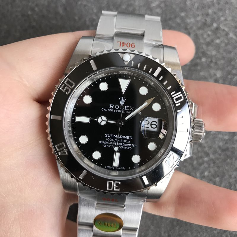 N厂劳力士黑水鬼V12版本SUB终极版顶级精仿潜航者系列男士机械手表
