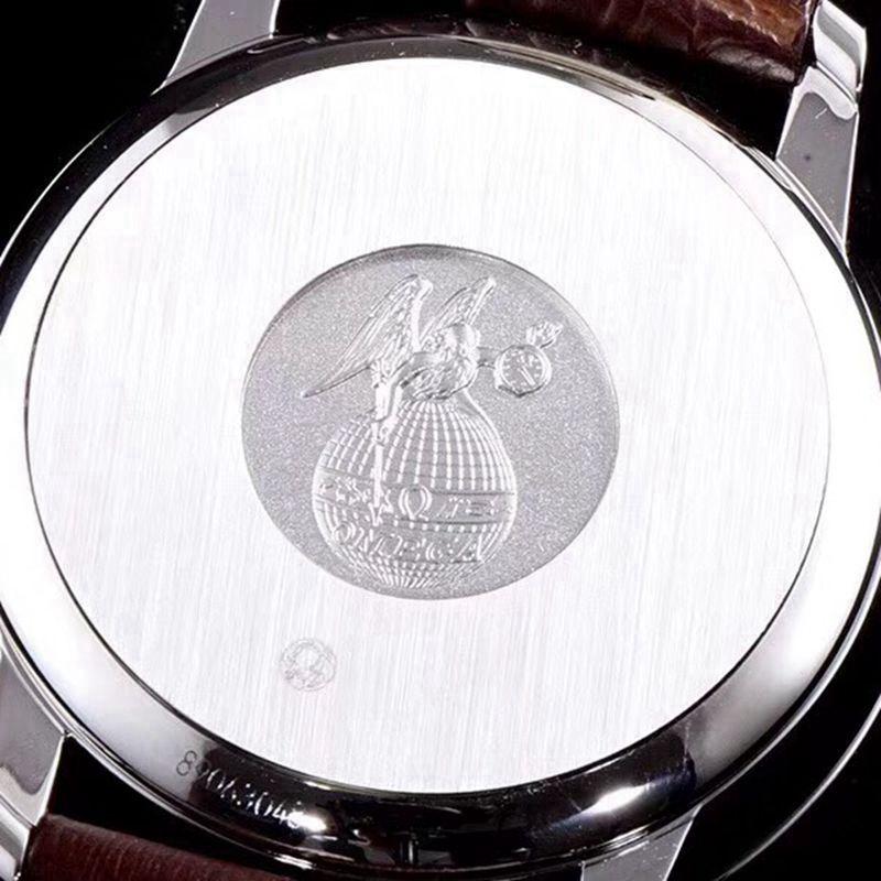 复刻欧米茄手表碟飞复商务系列男士机械超薄手表轨道蝶飞黑色