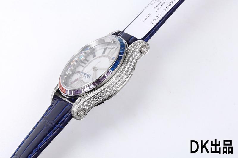 2021最新款女士复刻手表萧邦终极复刻快乐彩虹T钻274891-1007蓝色表带