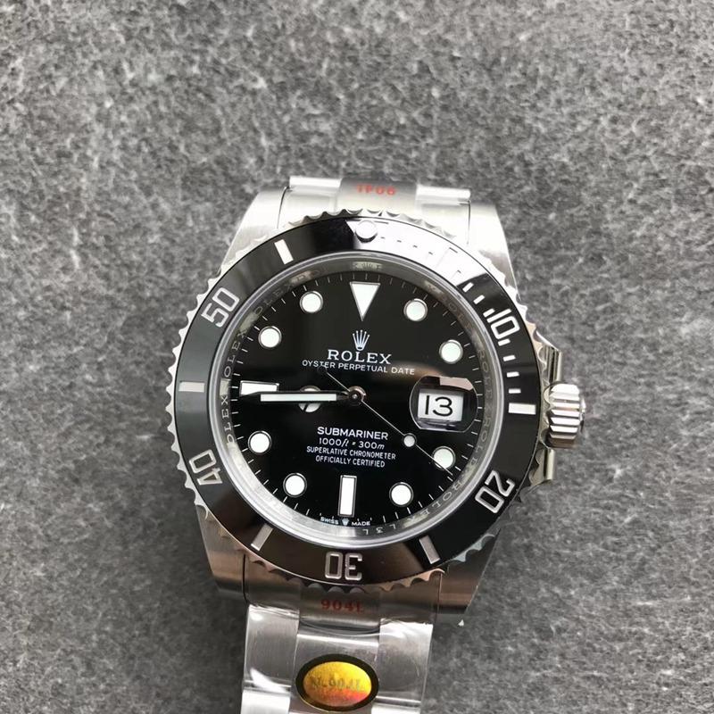NOOB劳力士顶级复刻手表V11潜航者型系列m126610ln-0001(新款黑水鬼)