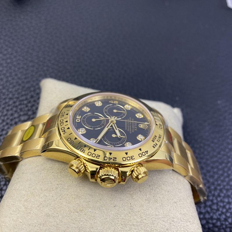 N厂劳力士复刻手表全新钻刻度款式迪通拿专属4130自动上链机芯全金黑面