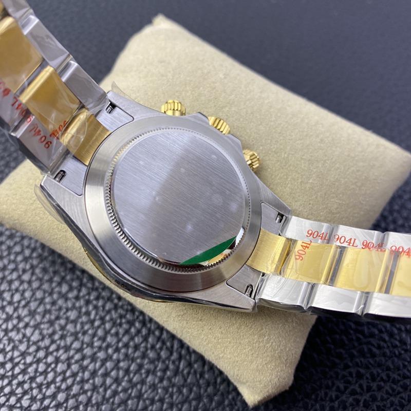 N厂复刻劳力士手表全新钻刻度款式迪通拿专属4130自动上链机芯间金金盘