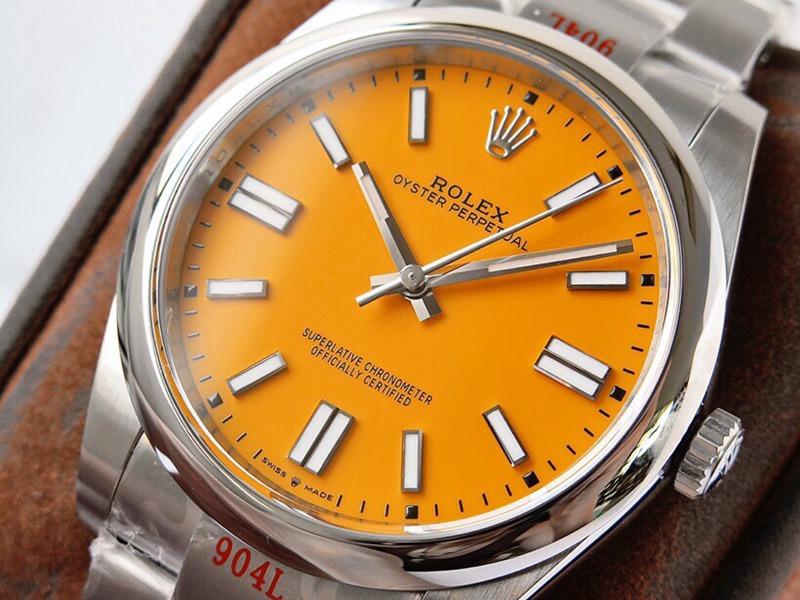 GS劳力士顶级复刻手表蚝式恒动神奇宝贝41mm黄盘