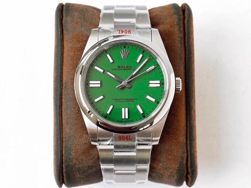 GS劳力士顶级复刻手表蚝式恒动神奇宝贝41mm绿盘