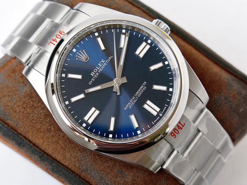 GS劳力士顶级复刻手表蚝式恒动神奇宝贝41mm深蓝表盘