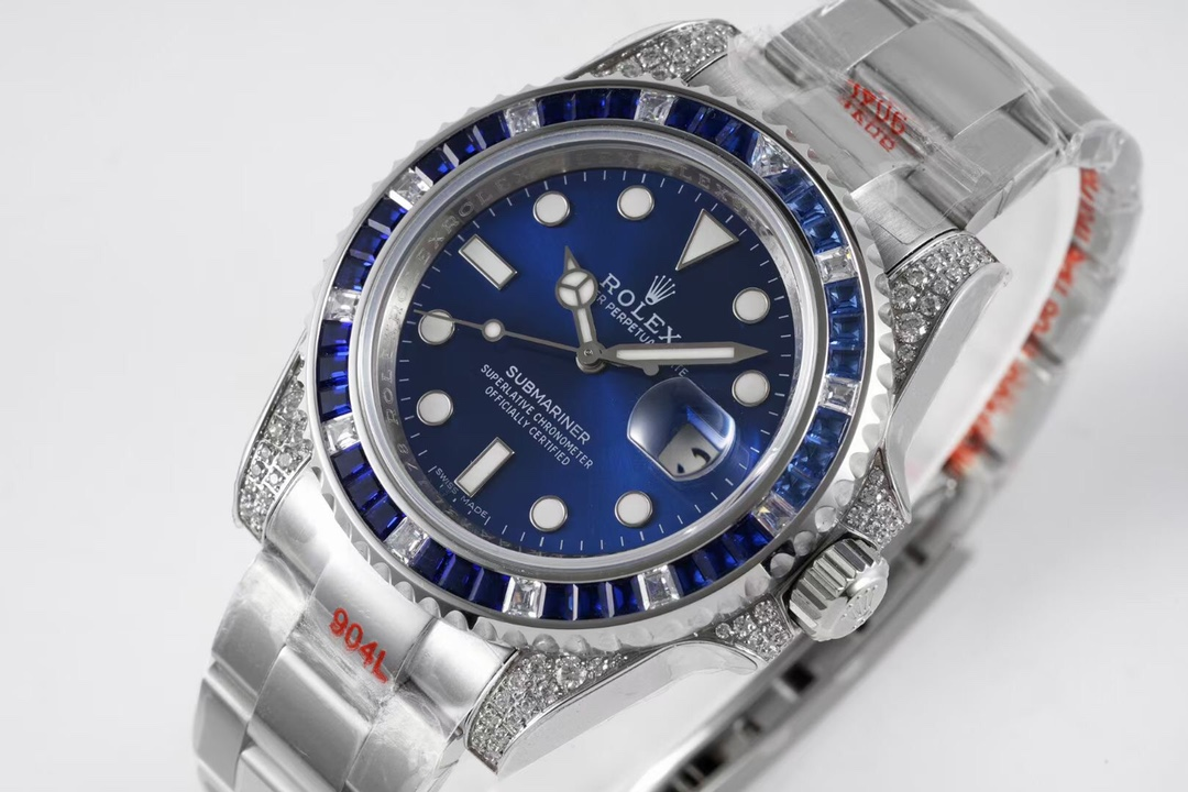 顶级劳力士高仿格林尼治型II手表后镶钻定制版奢华闪耀经典潮流