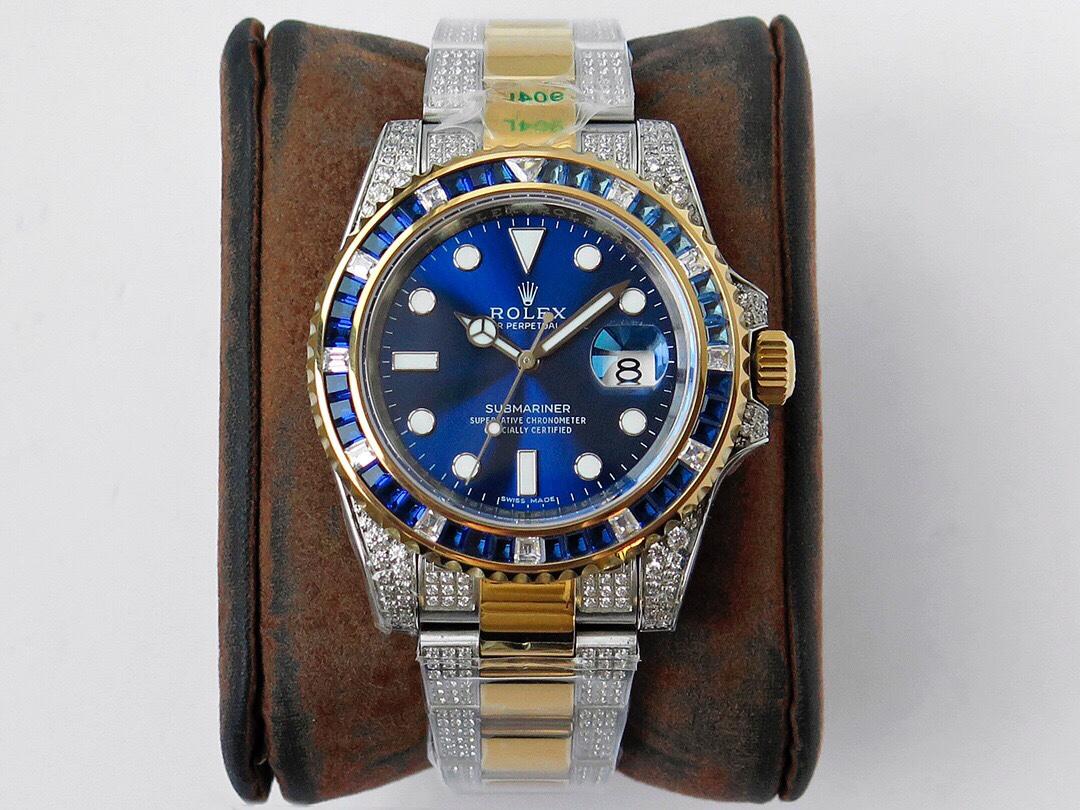复刻劳力士手表顶级格林尼治型II后镶钻定制版奢华闪耀经典潮流