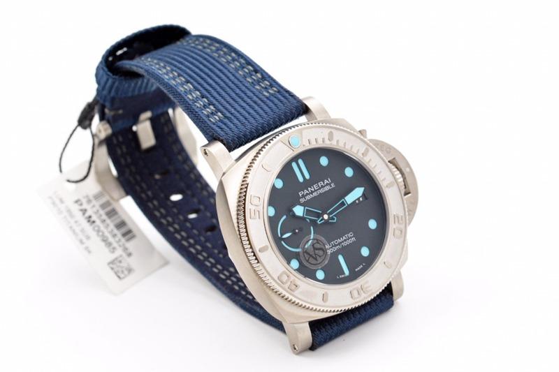 VS顶级复刻沛纳海新款PAM985直径47MM树脂纤维布带手表