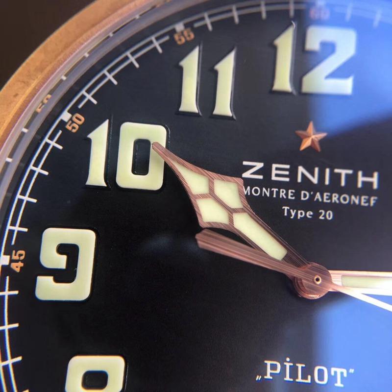 xf真力时复刻手表全新升级青铜大飞 大表盘复古男表