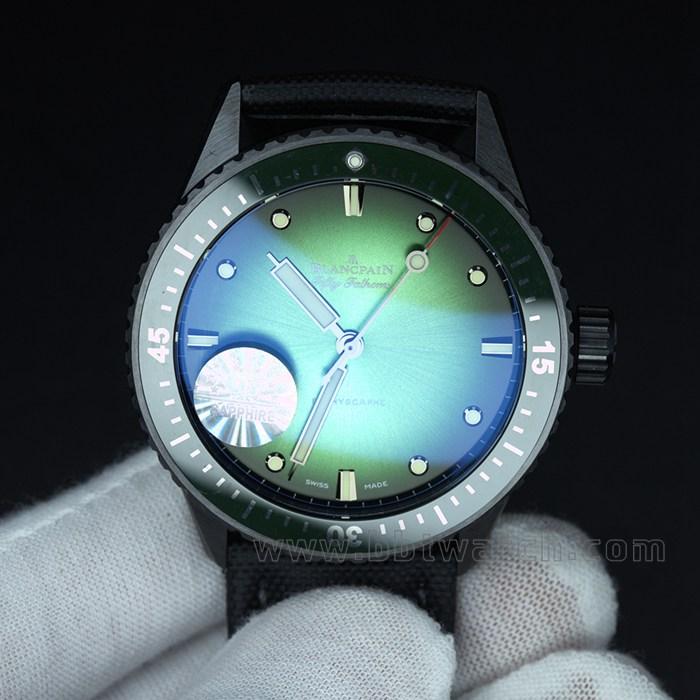 2021新款gf陶瓷五十噚绿色超酷男士机械手表