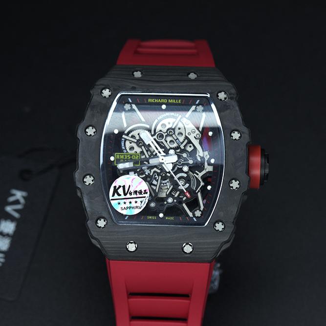 理查德rm53碳纤维男士镂空机械手表